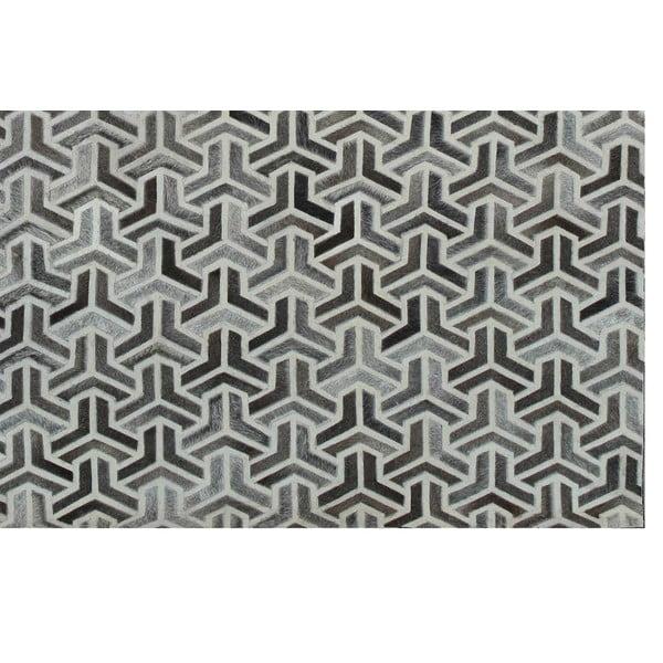 Dywan skórzany Bolzano Grey, 140x200 cm