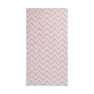Wytrzymały dywan w kolorze pudrowym Vitaus Zikzak, 80x150 cm