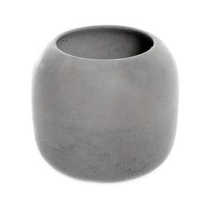 Szary betonowy kubek na szczoteczki Iris Iris Hantverk