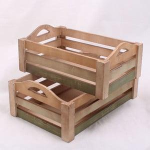 Komplet małych drewnianych skrzynek Seaside, 2 szt