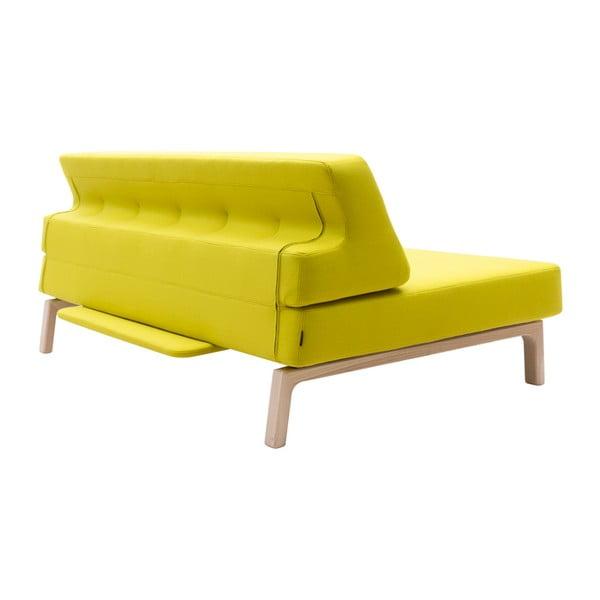 Żółta sofa rozkładana Softline Lazy