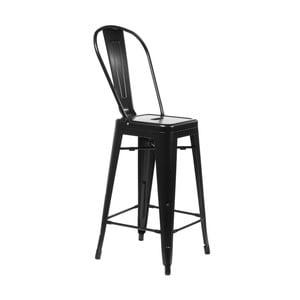 Czarne krzesło barowe D2 Paris
