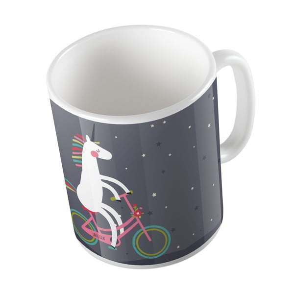 Ceramiczny kubek Butter Kings Unicorn With A Bike, 330 ml