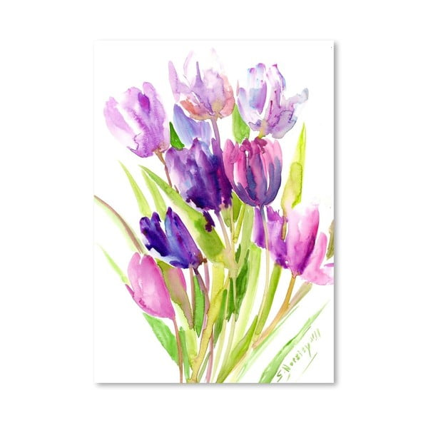 Plakat Purple Tulips (projekt Suren Nersisyan)