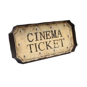 Świecąca dekoracja ścienna Novita Cinema Ticket