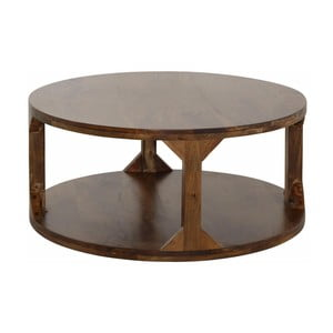 Stolik z drewna mangowego Støraa Misha, średnica60cm