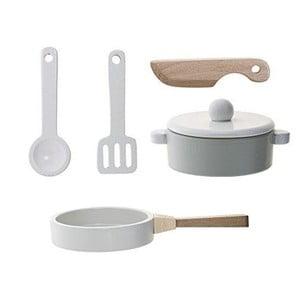 Zestaw drenwianych akcesoriów kuchennych do zabawy Bloomingville Play Kitchen Set
