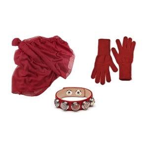 Zestaw rękawiczek, szalika i bransoletki Lavaii Lota