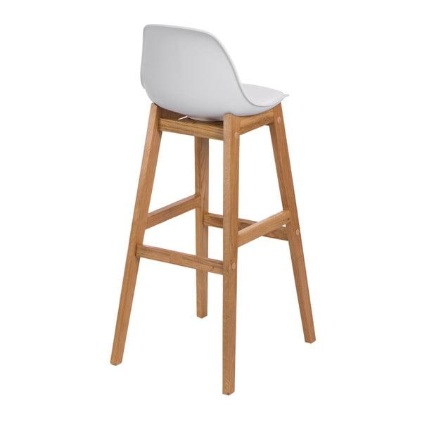 Krzesło barowe D2 Norden Wood, białe
