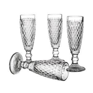 Zestaw 4 kieliszków do szampana Unimasa Diamond, 130ml