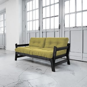Sofa rozkładana Karup Step Black/Avocado Green