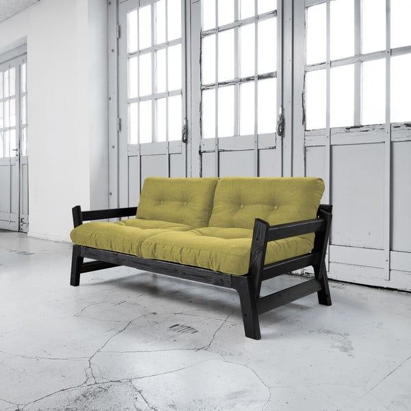 Sofa rozkładana Karup Step Black/Avocado Green