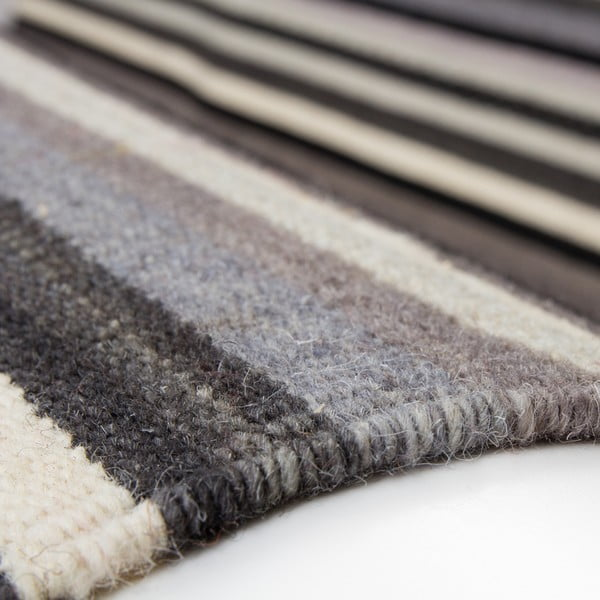 Wełniany dywan Atacama 80x150 cm, szary