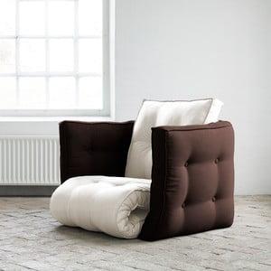 Fotel rokładany Karup Dice Natural/Brown