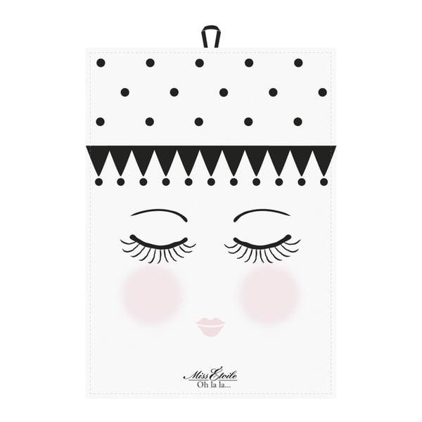 Zestaw 2 ścierek kuchennych Miss Étoile Eyes and Dots