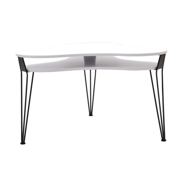 Biały stolik z czarnymi nogami RGE Ester