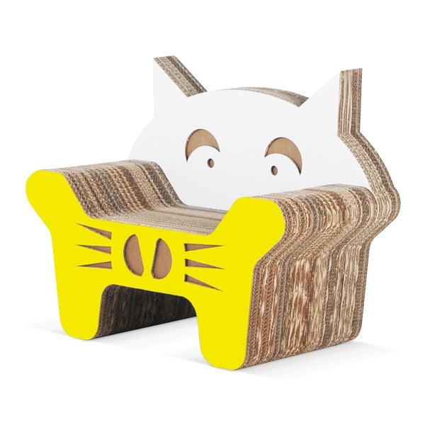 Kartonowy fotelik dziecięcy Gatto Yellow