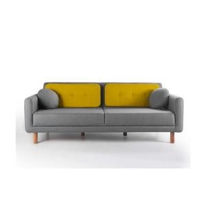 Rozkładana sofa Bubi Grey/Mustard