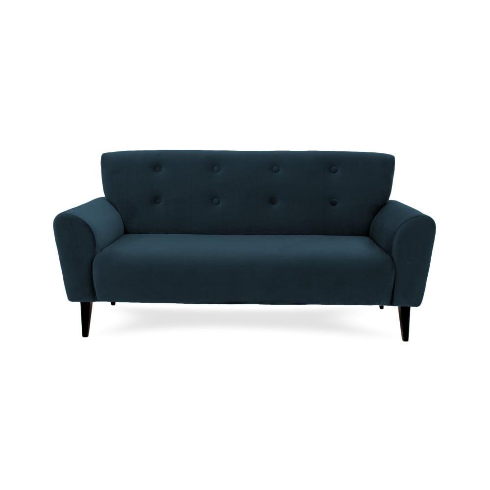 Ciemnoniebieska 3-osobowa sofa Vivonita Kiara