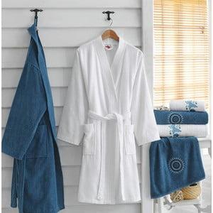 Komplet 2 szlafroków i 4 ręczników z bawełny Marina