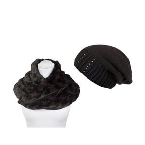 Czapka i szalik Black Fur