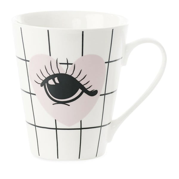 Kubek porcelanowy Miss Étoile Coffee Heart and Eye
