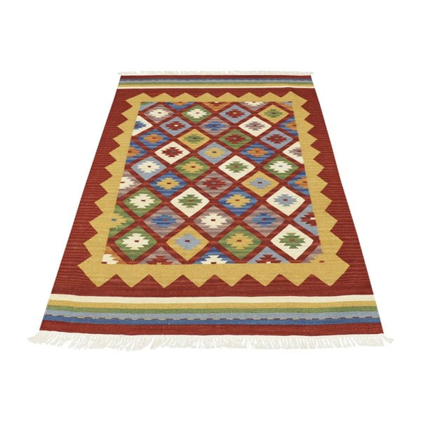 Dywan tkany ręcznie Bakero Kilim Classic K14 Red, 125x185 cm