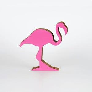 Różowa dekoracja z kartonu w kształcie flaminga Dekorjinal Pouff Cactus, 28x28cm