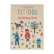 Zestaw tatuaży zmywalnych Czerwony Kapturek Rex London Red Riding Hood
