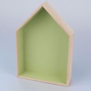 Półka wisząca Domek 21x30 cm, zielona