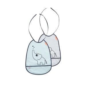 Zestaw szarego i niebieskiego śliniaczka Done by Deer Elphee