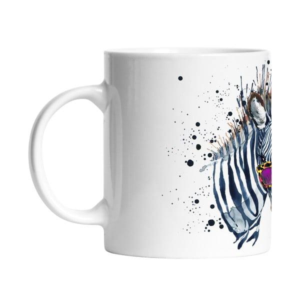 Ceramiczny kubek Cool Zebra, 330 ml