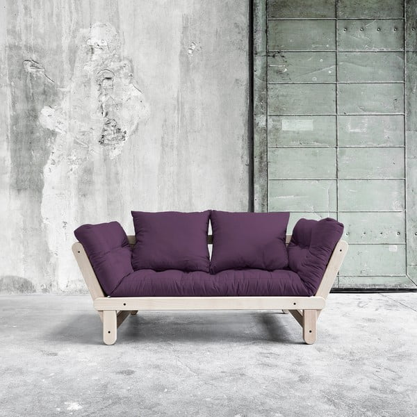 Sofa rozkładana Beat Beech/Purple