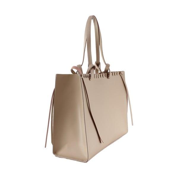 Skórzana torebka Linda, różowa