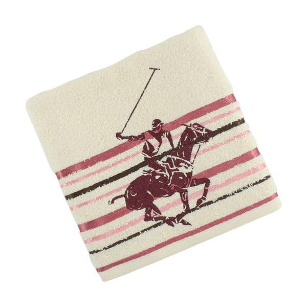Ręcznik bawełniany BHPC Cream 50x100 cm, różowy