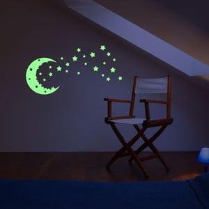 Naklejka świecąca w ciemności Ambiance Fanastick Moon And The Stars