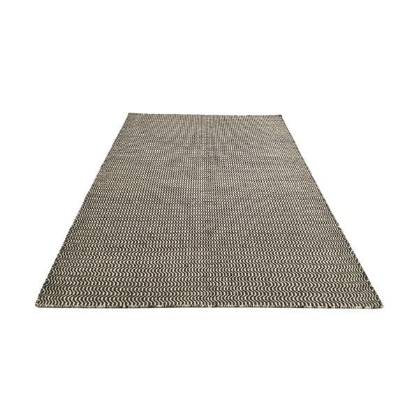 Ręcznie tkany dywan Black and White Waves Kilim, 152x224 cm