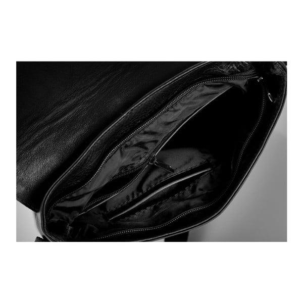 Torba męska skórzana Solier SL31, czarna
