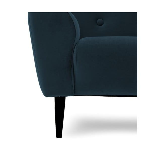 Granatowa sofa dwuosobowa Vivonita Klara