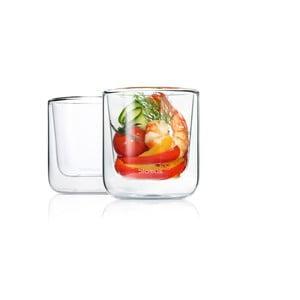 Komplet 2 szklanek Blomus Nero, 200 ml
