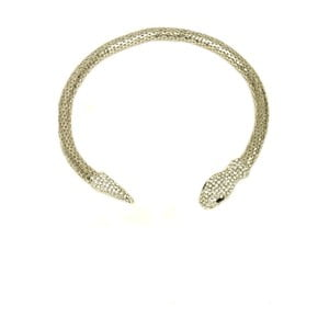 Naszyjnik Snake Rhodium