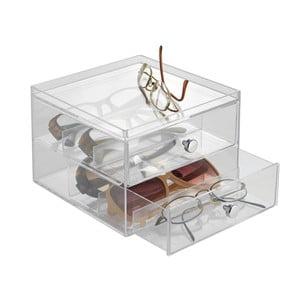 Przezroczysta minikomoda InterDesign Drawers, 2 szuflady