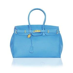 Skórzana torebka Emdo, błękitna
