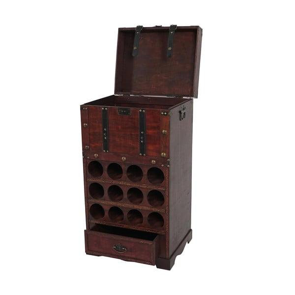Stojak na wino (12 butelek) Shabby Colonial 85 cm, brązowy