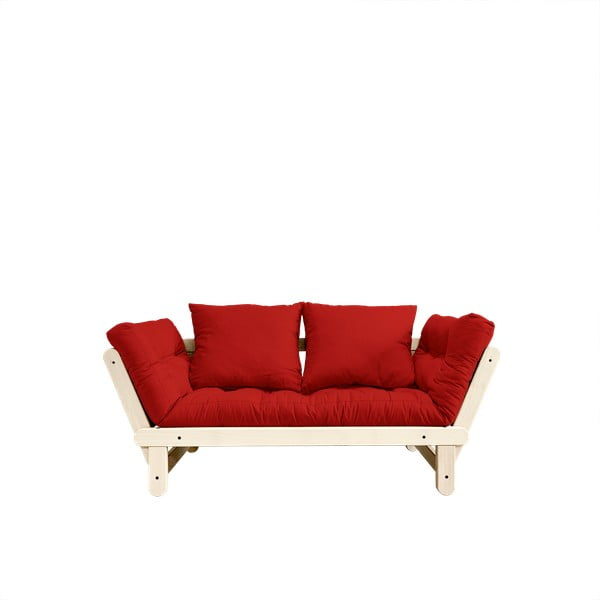 Sofa rozkładana Karup Beat Natural/Red