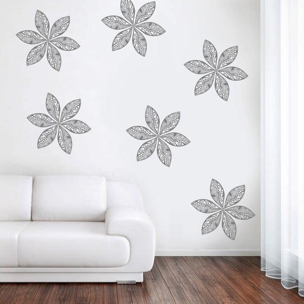 Naklejka ścienna Kwiaty retro, 70x50 cm