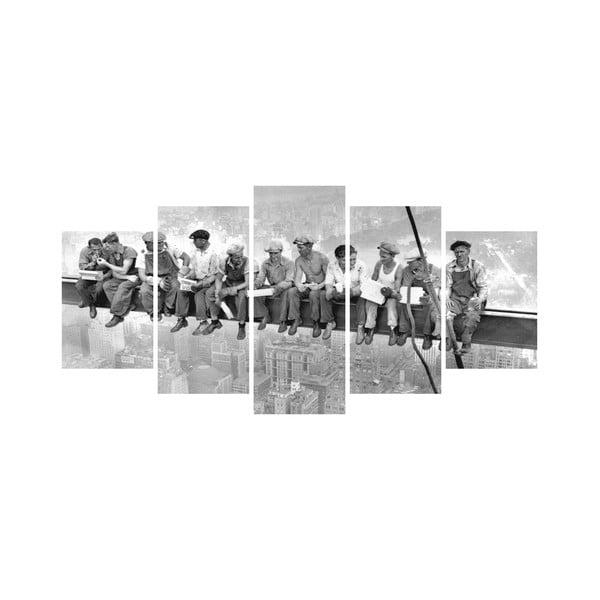Wieloczęściowy obraz Black&White no. 28, 100x50 cm