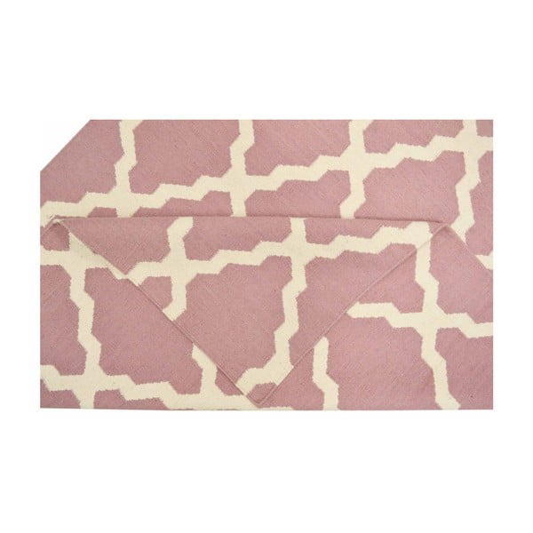 Ręcznie tkany dywan Kilim Pink, 160x230 cm