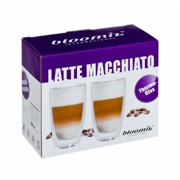 Zestaw 2   kubków na latte macchiato bloomix Roma