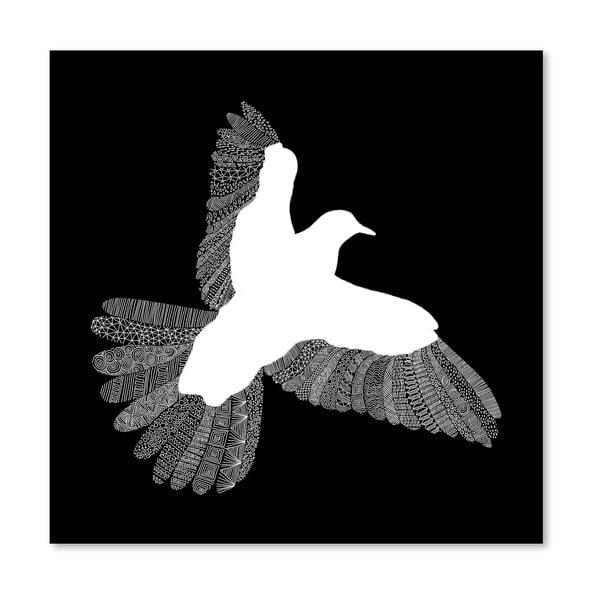 Plakat Bird Black, 30x30 cm